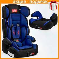 Детское автокресло с бустером JOY Е 1405 автомобильное кресло от 9 - 36 кг, от 1 - 12 лет черно синее