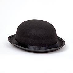 Шляпа Котелок черная, размер 56-58 см