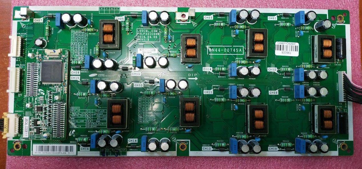 Плата power supply LED driver board BN44-00745A, L65C4L_ESM, с модели: Samsung UN65HU9000, UN55HU9000