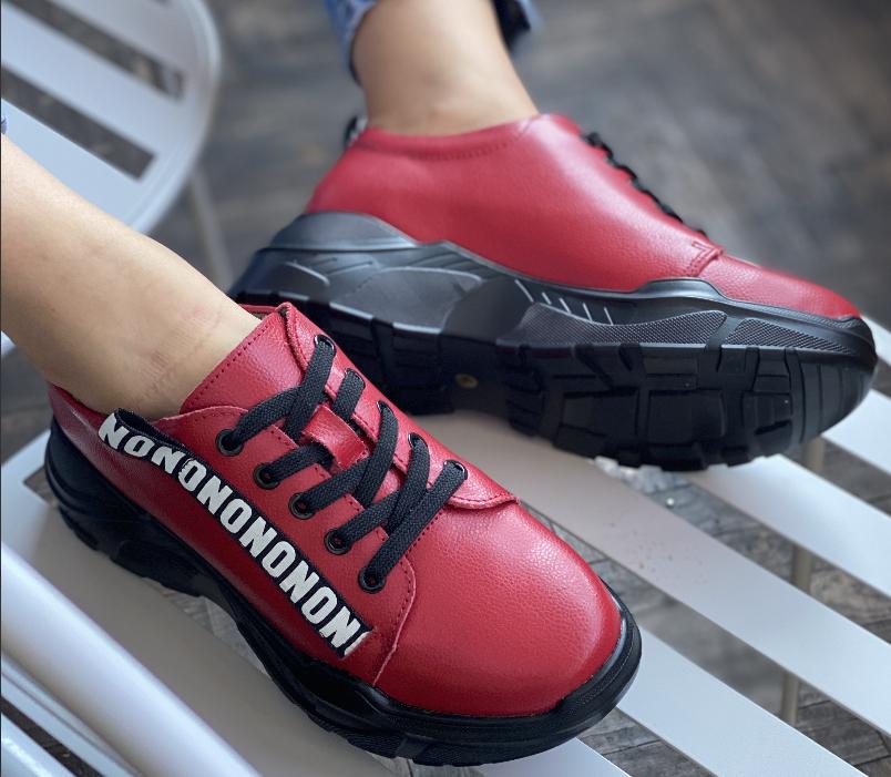 Кросівки жіночі натуральна шкіра червоні