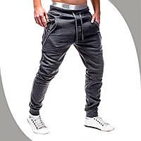 Мужские спортивные брюки Lemato темно-серые, Чоловічі спортивні брюки Lemato темно-сірі