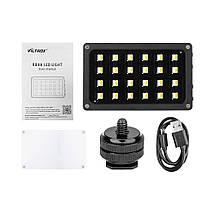 Ультратонкий, портативный  LED - осветитель, видео-свет Viltrox RB08 со встроенным аккумулятором, фото 3