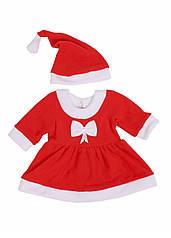 Костюм Санта дівчинка, червоний