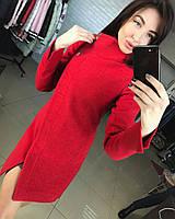 Пальто женское демисезонное молодежное красное