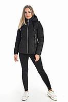 Женская куртка спортивная демисезонная черная