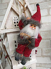 Санта ползущий в окошко - новогодний декор, h-20 см., 130/120 (цена за 1 шт. + 10 гр.)