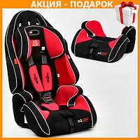 Детское автокресло с бустером JOY G 1699 автомобильное кресло от 9 - 36 кг, от 1 - 12 лет черно красный