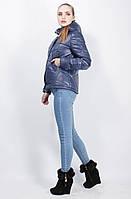 Куртка весна осень женская курточка демисезонная синяя
