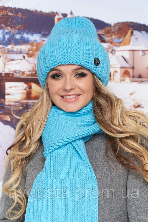 Комплект «Наоми» (шапка и шарф) (бирюзовый) Braxton
