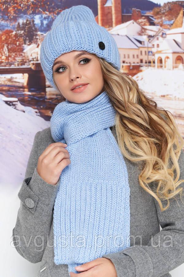 Комплект «Наоми» (шапка и шарф) (голубой) Braxton