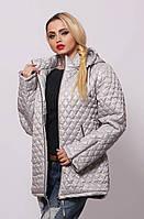 Женская демисезонная куртка большой размер осень весну светлая