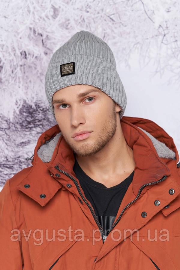 Мужская шапка «Камиль» (светло-серый) Braxton