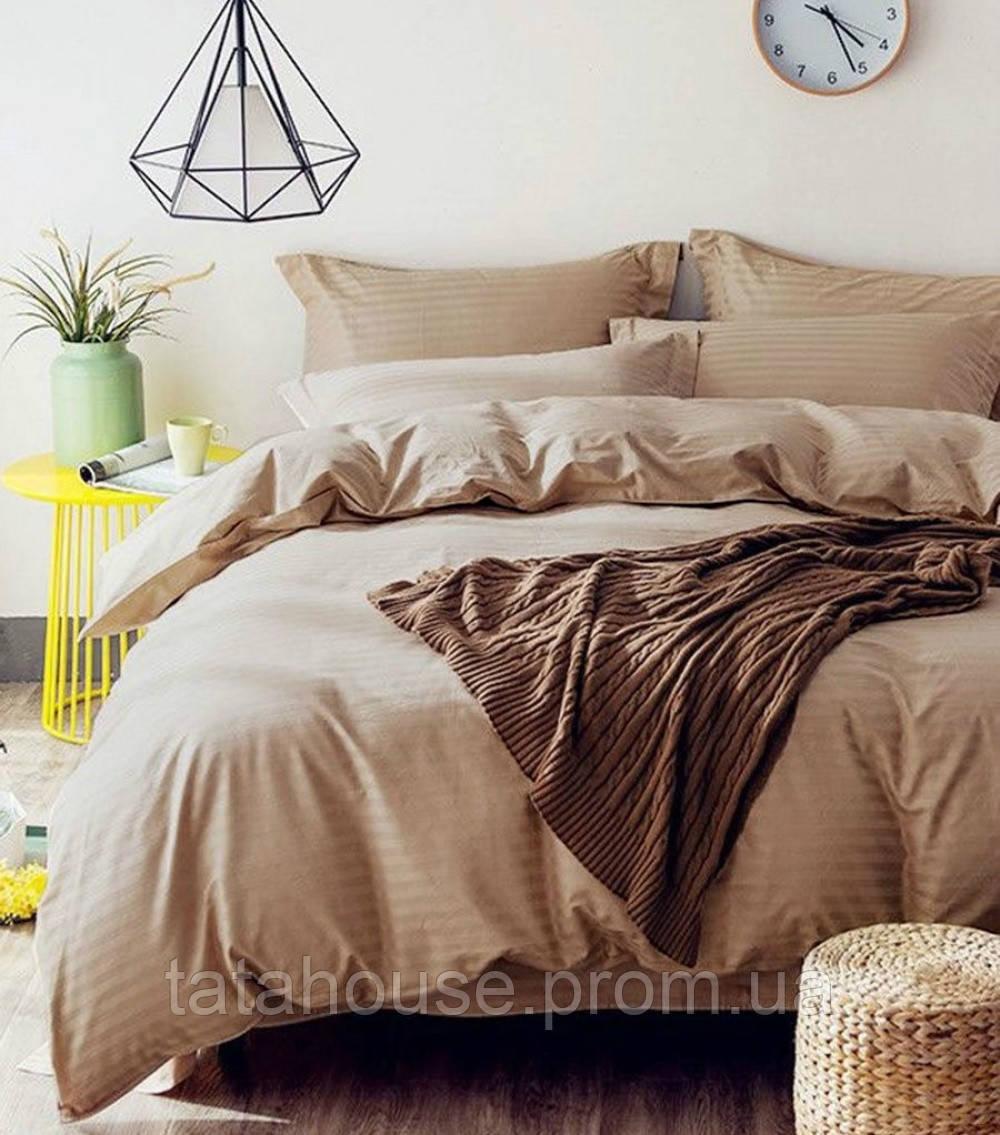 Комплект постельного белья Сатин Stripe BISCUIT 1/1см