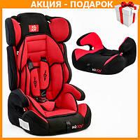 Детское автокресло с бустером JOY Е 1120 автомобильное кресло от 9 - 36 кг, от 1 - 12 лет черно красный
