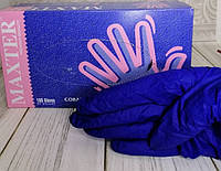 Нитриловые синие перчатки MAXTER S
