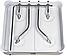 Плита газовая таганок настольная Domotec MS 6604 на 4 конфорки эмалированная с крышкой, фото 7