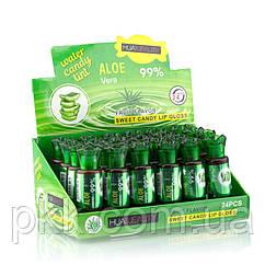 Помада-тинт для губ HUDA BEAUTY Water Candy Tint Fruit Flavor Aloe Vera 99 % на водной основе mix-6шт MJ-TG020