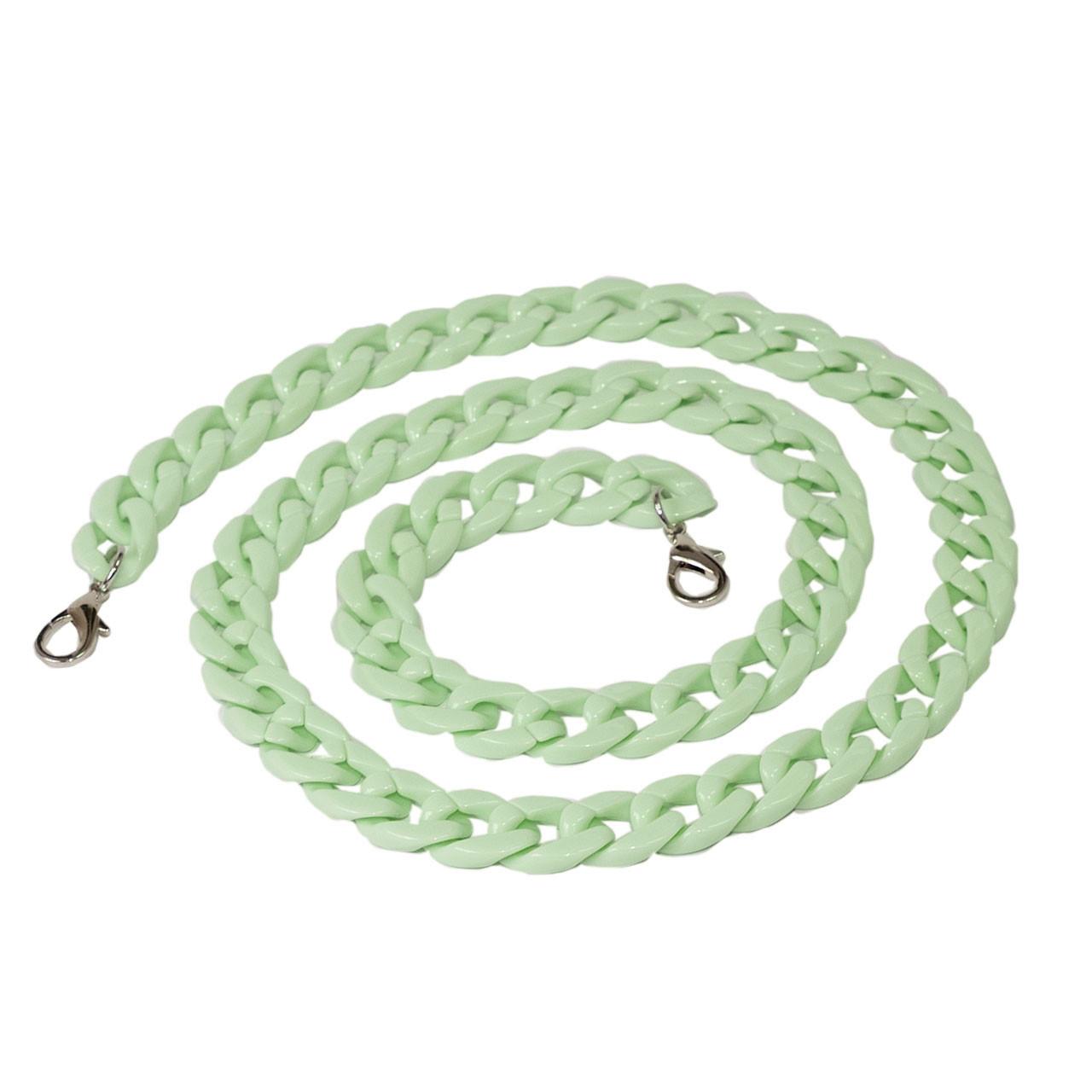 Акриловая цепь 120 см, Светло-зеленая