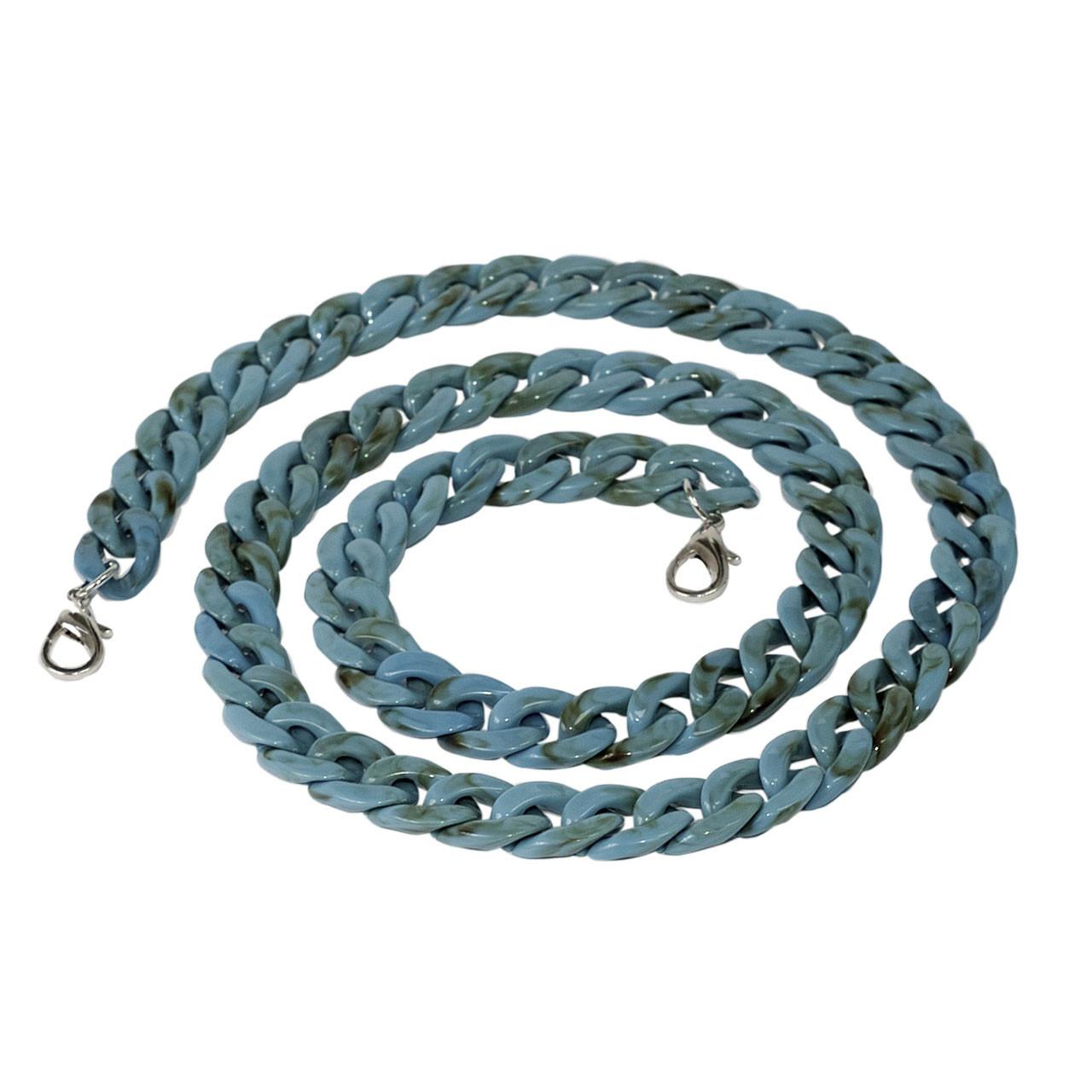 Акриловая цепь 120 см, Голубой океан