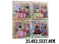 Одежда для кукол 2212-2 (1799022) (48шт) 4 вида,платье,сумочки,обувь,аксессуары,в кор.27*25*1,5 см