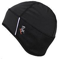 Спортивная велосипедная термо-шапка MFH Soft-Shell черного цвета