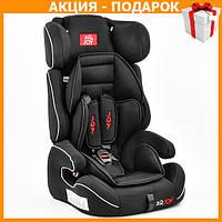 Детское автокресло с бустером JOY Е 4235 автомобильное кресло от 9 - 36 кг, от 1 - 12 лет темно серый