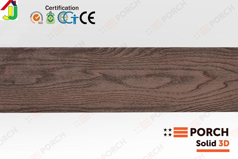 Террасная доска Porch Solid 3D Dark Teak 2200x140x18, композитная дерево-полимерная доска, для террасы,веранды
