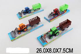 Трактор 2016-10 (216шт/2) 4 цвета, под слюдой 26*8*7,5 см