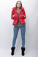 Куртка весна осень женская курточка демисезонная красная