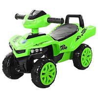 Детская машина квадроцикл каталка толокар Bambi Зеленый