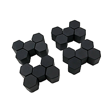 Защитные силиконовые колпачки на колесные гайки 17 мм черные