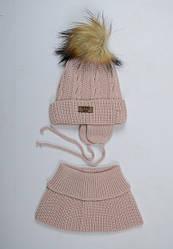 Комплект шапочка шарф для девочки