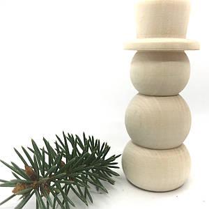 Сніговик дерев'яний 9.8см