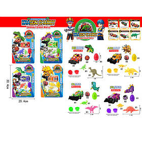 Игровой набор 7913 (96шт/2) 4 вида, на планш 20,4*30,4 см