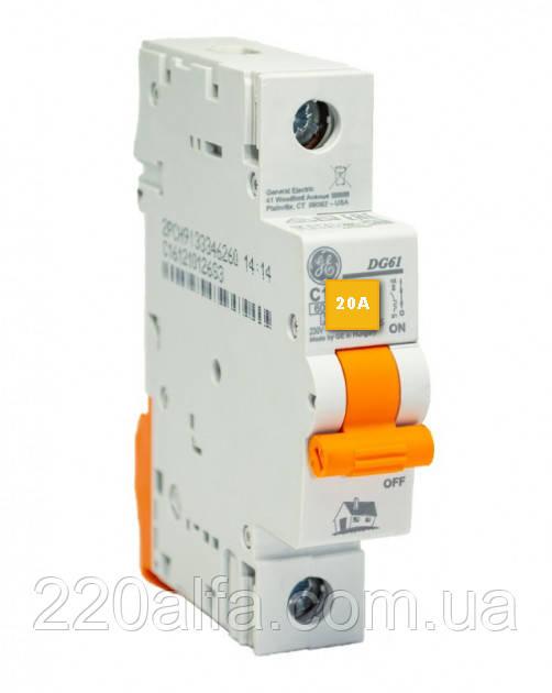 Автоматичний вимикач General Electric DG 61 C20 6kA