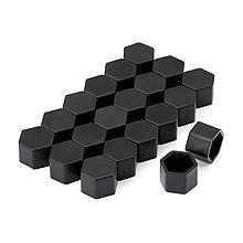 Защитные силиконовые колпачки на колесные гайки 19 мм черные