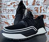 Кросівки чоловічі чорні натуральна шкіра, фото 2