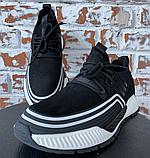 Кросівки чоловічі чорні натуральна шкіра, фото 3