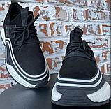 Кросівки чоловічі чорні натуральна шкіра, фото 4