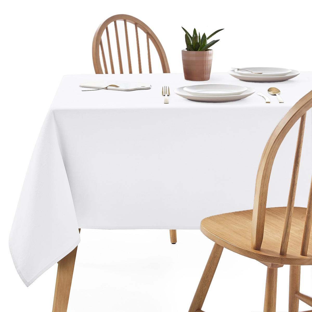 Скатертина 260х140см Біла Арт.963 Туреччина в Ресторан на стіл 200х80см спуск 30см