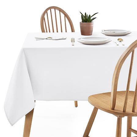 Скатертина 260х140см Біла Арт.963 Туреччина в Ресторан на стіл 200х80см спуск 30см, фото 2