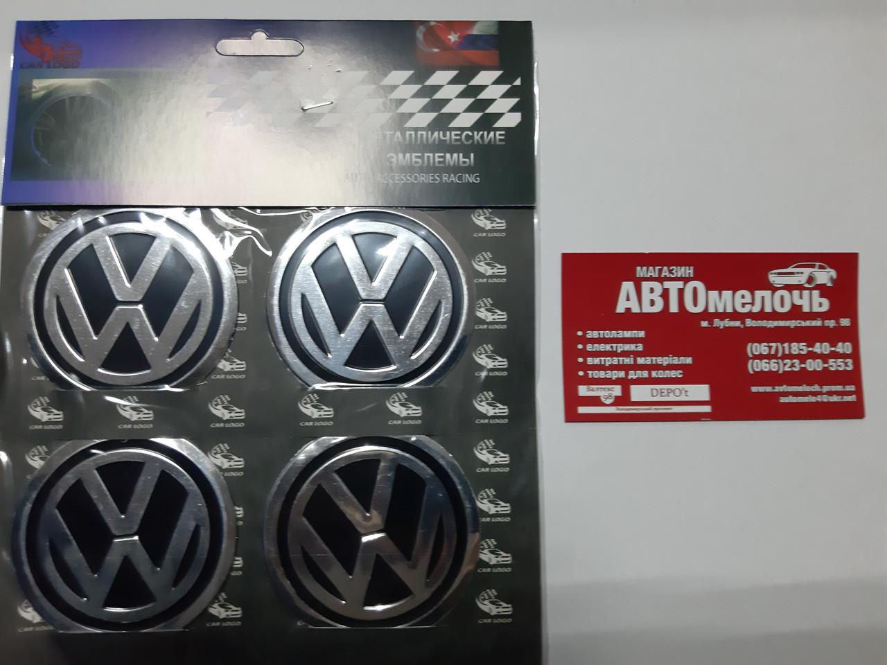 Наклейка на колесный диск VW