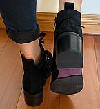 Черевики замшеві класичні жіночі чорні, фото 5