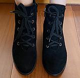 Черевики замшеві класичні жіночі чорні, фото 3