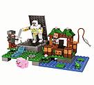 """Конструктор майнкрафт  BELA Minecraft """"Голем на ферме"""" 219 деталей , фото 2"""