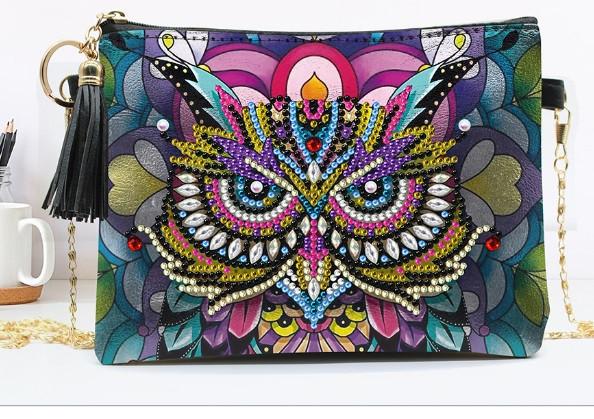 Набор для творчества Crystal art сумка с алмазной мозаикой Сова (MI_DS02)