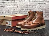 Мужские зимние ботинки Red Wing Shoes с мехом ботинки ред винг зимові черевики Red Wing Classic ботінки зимові, фото 5