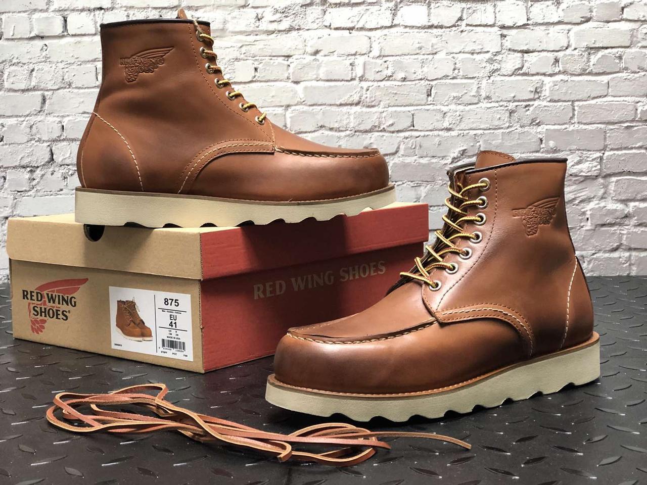 Мужские зимние ботинки Red Wing Shoes с мехом ботинки ред винг зимові черевики Red Wing Classic ботінки зимові