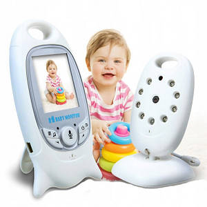 Відеоняня Baby Monitor VB 601 VB601 на акумуляторах з двостороннім зв'язком, мелодіями і термометром