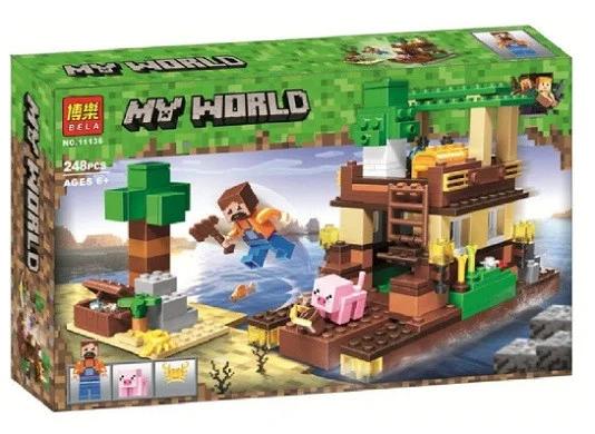 """Конструктор майнкрафт  BELA Minecraft """"Остров сокровищ"""" 248 деталей"""